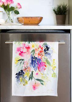 "Yao Cheng Design - Meadow Tea Towel - As featured in Etsy's ""Best of Instagram"" Editors Picks"