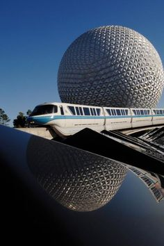 The Blue Monorail which was the first Mark VI train to run at Walt Disney World.