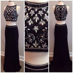 Pd61124 Charming Prom Dress,Beading Prom Dress,2 Pieces Prom Dress,Satin Evening Dress