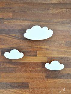 Nuvem Gancho (trio) - Cadô Design  O Trio de Nuvens compõe a decoração e permite que as roupinhas mais charmosas estejam à vista!