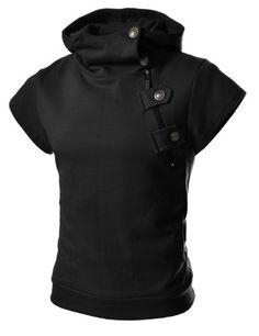 $25.99 TheLees Mens casual buckle zipper slim hoodie T-shirts Black XX-Large(US X-Large) TheLees,http://www.amazon.com/dp/B00CBELA8O/ref=cm_sw_r_pi_dp_F5aSsb0XWAV2FP42