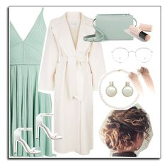 """Mint Green wedding"" by unicornul on Polyvore featuring Elie Saab, MaxMara, Stuart Weitzman, AllSaints, Tara and Burberry"