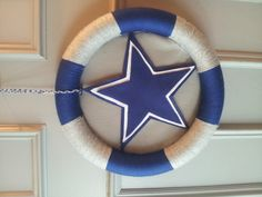 Dallas Cowboys wreath, $45 www.facebook.com/sunshinewreathsnthings   I can make this
