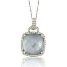 Leonardo Jewelers - Doves: Doves White Gold Pendant DS1-P6290LMW