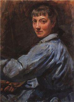 Self-portrait - Zinaida Serebriakova, 1946