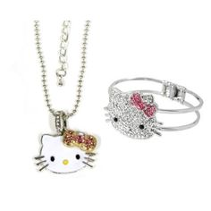 Kitty Crystal Bangle Bracelet - Comes with Gift B ($14.99)