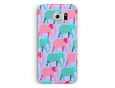 S5 Case, Samsung Galaxy S5 Case, Elephant Samsung S5 Case, S5 cover, Pink S5 Case, Kawaii S5 Case, Plastic Phone Case, Phone Cover