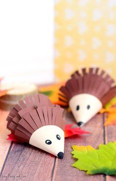 Cute Hedgehog Paper Craft for Kids