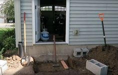 I needed some steps going out the back of the garage because the step down was very far. After scouring the internet on how to build regular steps and watching…