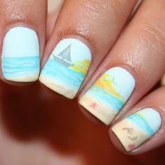 Beach Inspired Nails