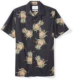 28 Palms Men s Standard-Fit 100% Cotton Hawaiian Shirt e394b6b2e