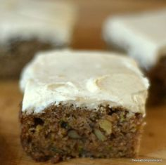 My Zucchini Cake with Browned Butter Frosting is moist, rich with nuts, and crowned with the most decadent frosting ---- zucchini never had it so good!