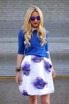 Pretty in Blue - MSGM dress, J. Crew Sweater, Tibi Shoes, ASOS top, Etnia Barcelona Sunglasses.   atlantic-pacific.blogspot.com