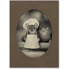 Trademark Fine Art 'Mice Series #6' Canvas Art by J Hovenstine Studios, Size: 35 x 47, Gray