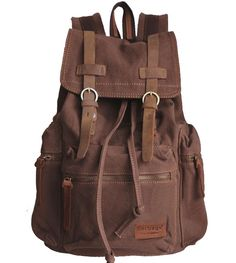 "Vintage School Hiking #Canvasbackpack Outdoor - 17"" padded Laptop compartment #Serbags"