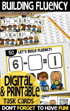 These math digital task card activities are perfect for your first grade classroom.  Printable task cards are free in this resource.  This comes with a Qr Code card for students to scan and begin working on.  These are perfect for math centers, extra practice, small group, and independent instruction.  Comes with an answer document and a homework sheet for parents to scan the qr code so students can get extra practice from home.  This resource covers building fluency with subtraction to 10.