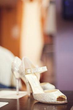 Lace heels by Jimmy Choo