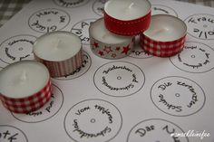 Tolle Idee: Teelichter mit Märchentitel