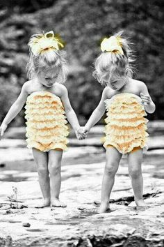 Twins in yellow