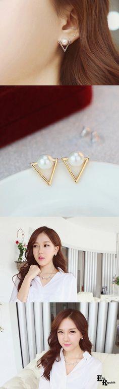 Tri-Pearl Earrings