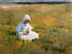In a Fild of Buttercups , by Marianne Stokes