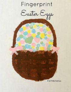 KIDS craft Finger Print Easter Basket !