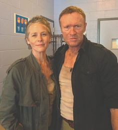 Melissa McBride  Michael Rooker on Conan  THEY WOULD BE THE CUTEST COUPLE EVERRRRRRRRR!