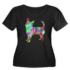 Multi Color Chihuahua Plus Size T-Shirt