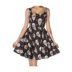 Women's Glitter Skulls Dress