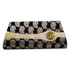 A beautiful black color evening clutch with acrylic stone ..this is img