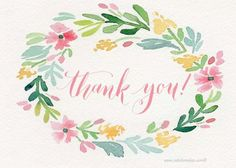 Free Delicate watercolor cards