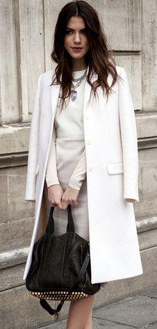 Easy elegance | White Dress + Coat//