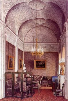 The Suite of Empress Alexandra Feodorovna at the Winter Palace in Saint Petersburg - The Boudoir
