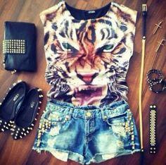 shirt clothes shorts ballerina studs #Glam