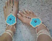 Native American Inspired Jade green Barefoot Sandal. $25.00, via Etsy.