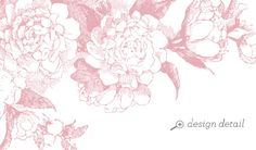 Garden Rose Printable Wedding Stationery - Design Detail