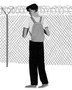 Deporting teenagers on their way to school isn't secure border control. It's a violation of human rights, the Editorial Board writes. (Illustration: Jun Cen)
