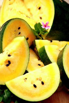 Yellow watermelon!  My favorite!!!  Reminds me of my grandfathers farm.