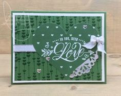 To You with Love | Stampin\' Up! | Festive Phrases | Season to Sparkle #literallymyjoy #hearts #love #ValentinesDay #gold #silver #tassel #heatembossing #2017HolidayCatalog #20172018AnnualCatalog