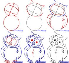 How to draw an owl. #Owls #HowTo #Art