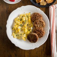 Sausage and eggs - Breakfast sausage is our signature product at Jones Dairy Farm. Weuse the same ingredients that Milo Jones used more than 128 years ago when he started the company—pork, water, salt and spices. The result is an array of all-natural, Certified Gluten-Free breakfast sausage links, patties and roll sausage that have become a staple on breakfast tables throughout the country. #certifiedpaleo #paleo #paleofoundation