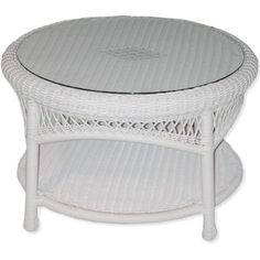 Classic Coastal Avalon Wicker Round Coffee Table by Classic Coastal. $314.99. Available in multiple all-weather wicker colors. Welded tubular aluminum frames provide secure strength. Ever strong all-weather wicker will never fade, crack, peel, or rust. Frame 3 year warranty: Wicker 2 year warranty. Glass top included. The prestigious Classic Coastal Wicker brings to you the Avalon Collection. Its famed design and comfort provide outdoor living areas the ability to c...