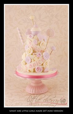 Sugar and Spice and All Things Nice Cake (mini version!) - Cake by Little Cherry
