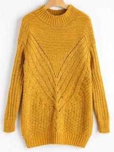 GET $50 NOW   Join Zaful: Get YOUR $50 NOW!https://m.zaful.com/high-neck-hollow-out-chunky-sweater-p_444535.html?seid=6415240zf444535