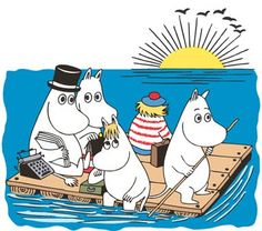 Muumiperhe - The Moomin family Moomin Mugs, Moomin Valley, Tove Jansson, Nursery Pictures, Book Characters, Fictional Characters, Thing 1, A Comics, Marimekko