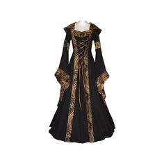Medieval inspired. yes please. Dresses 2 (Period) ❤ liked on Polyvore featuring dresses, costumes, long dresses and medieval