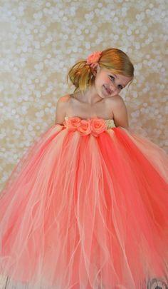 Free Shipping to US Coral Tutu Dress Newborn2T by PoshPixieTutu, $65.00