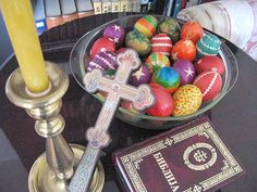 Serbian Orthodox Easter and some beautiful Easter eggs.