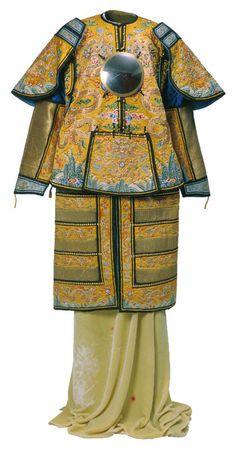 xxx ~ Emperor's ceremonial armour, 1736-1795 (Qianlong period). Silk, bronze, gold, metal and cotton. Length 147 cm x width 182 cm. On loan from the Palace Museum, Beijing © The Palace Museum, Beijing