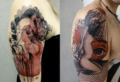 Tattoos by Xoil from a shop called Needle Side Tattoo in France.    Anybody know what to call this style? It's stunnnnnning